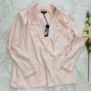 Lane Bryant light pink tailored stretch blazer 18